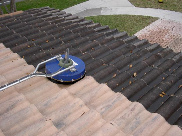 Power Cleaning Services : Low pressure roof cleaning services